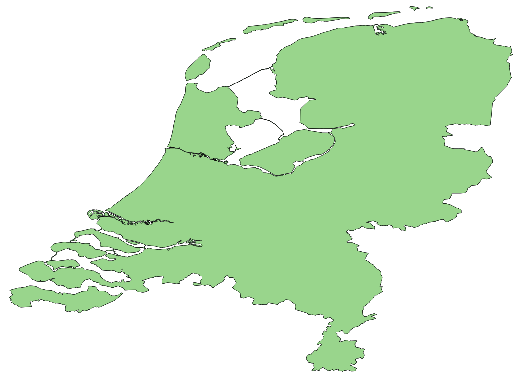 Map polygons for The Netherlands  We Build Internet